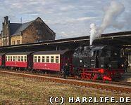 Selketalbahn im Bahnhof Quedlinburg