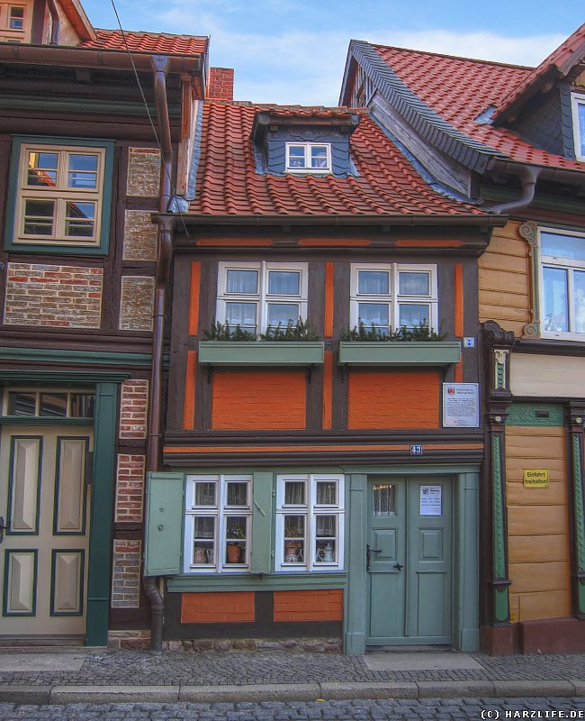harz bilder das kleinste haus in wernigerode. Black Bedroom Furniture Sets. Home Design Ideas