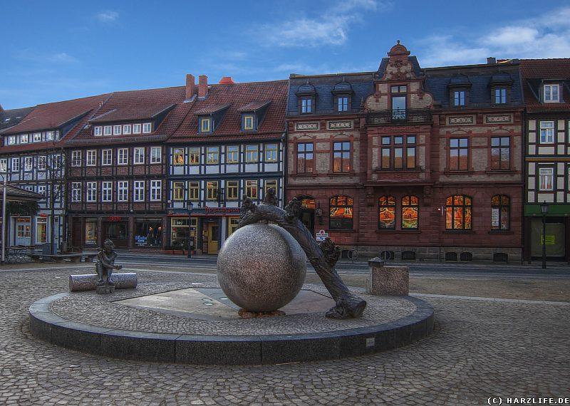 Der Nicolaiplatz in Wernigerode