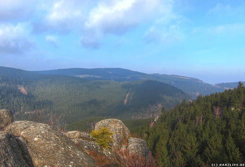 Aussicht auf den nördlichen Teil des Okertals