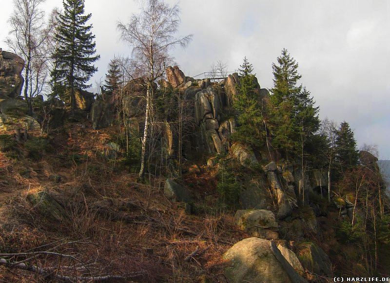 Blick von Osten auf die Granitformation der Feigenbaumkanzel