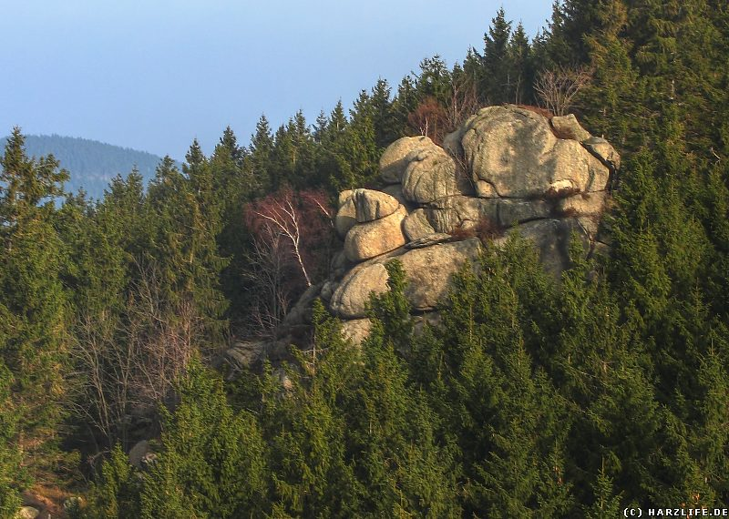 Die Felsklippe Mönch im Okertal