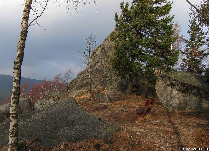 Rastplatz mit Aussicht an der Feigenbaumklippe