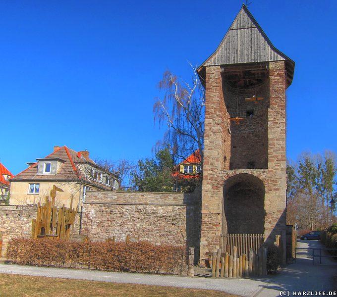 Bilder von der Stadtmauer in Wernigerode - Der Vorwerkturm