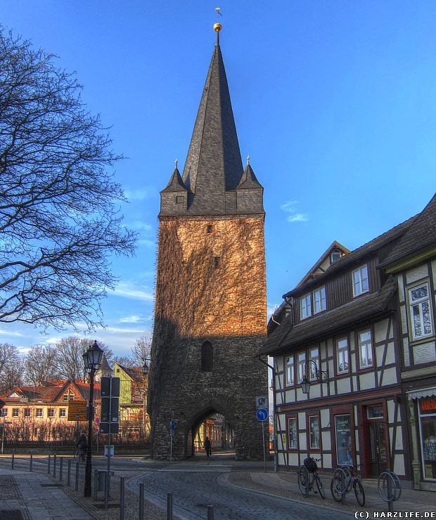 Bilder von der Stadtmauer in Wernigerode - Der Westerntorturm