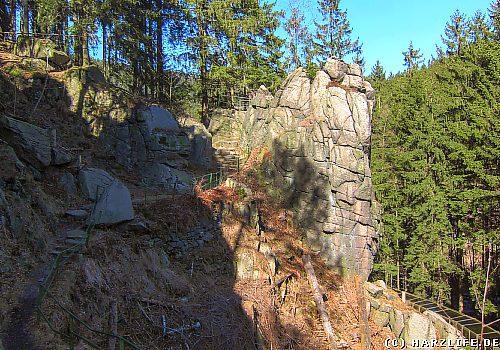 Die Adlerklippe im Okertal