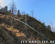 Ahrendsberger Klippen - steiler Aufstieg