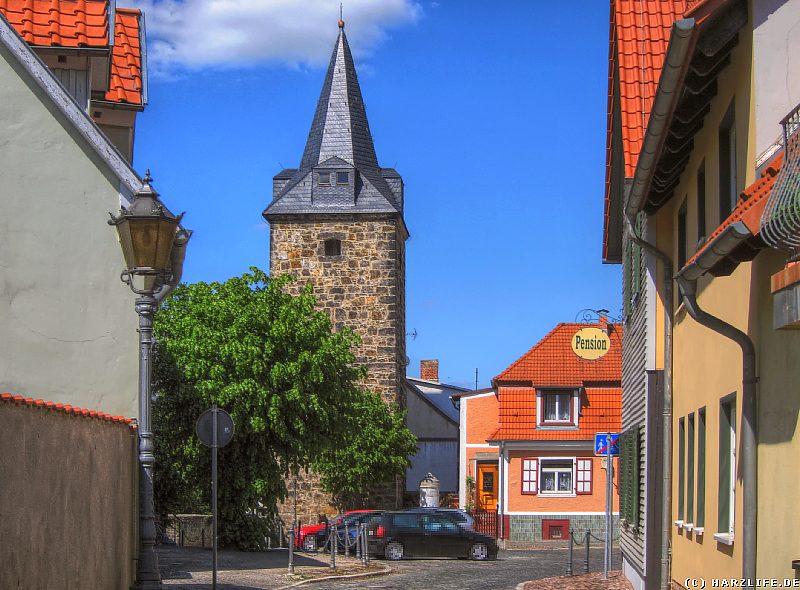 Ballenstedt - Alter Markt mit Marktturm