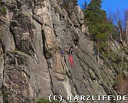 Marienwand mit Bergsteigern