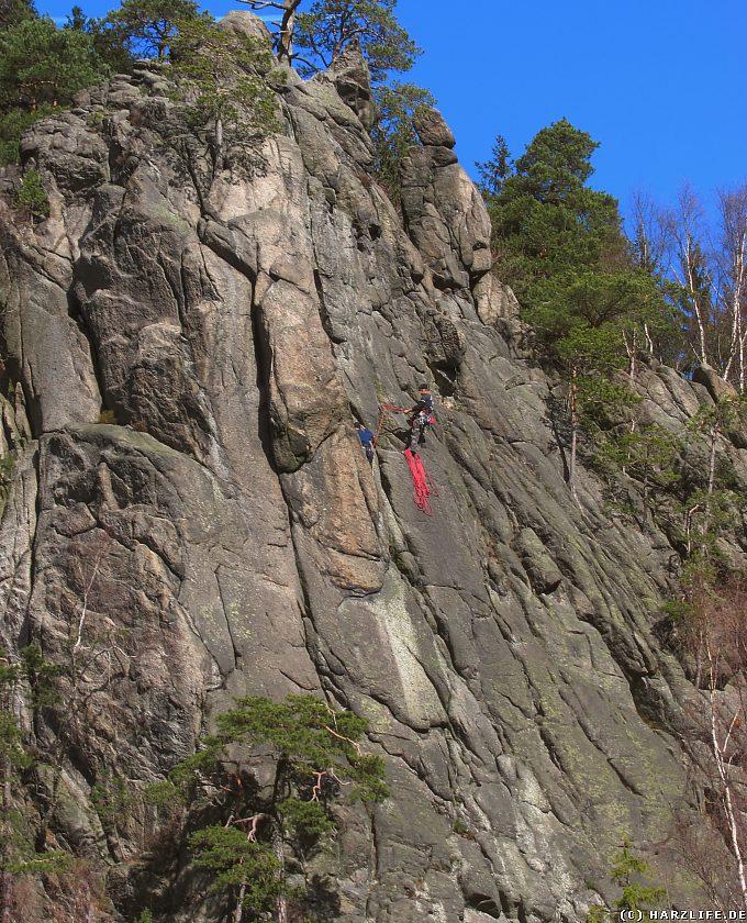 Bergsteiger in der Marienwand