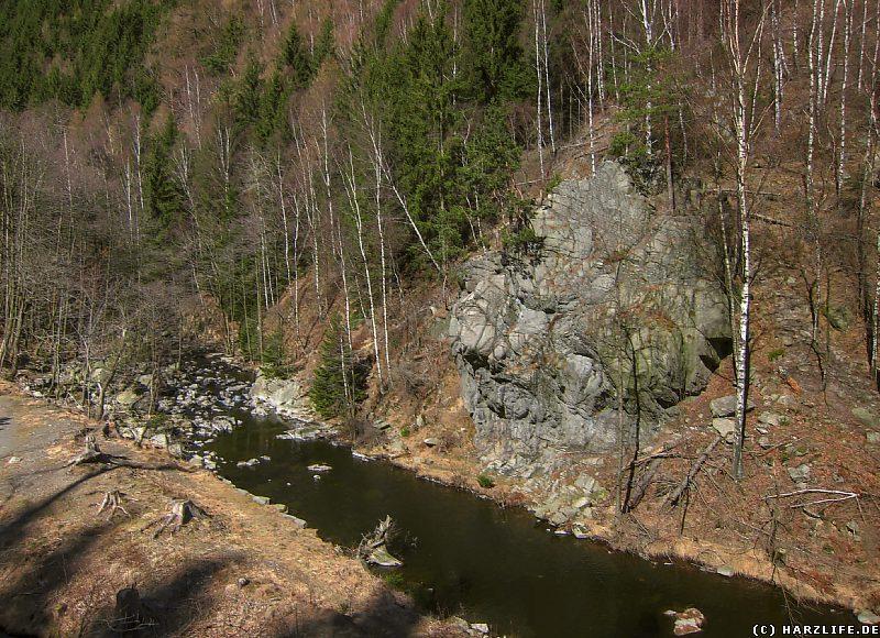Felsen an der Oker nahe der Marienwand