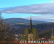 Liebfrauenkirche und Brockenblick