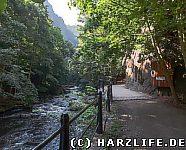 Bode und Wanderweg bei Thale