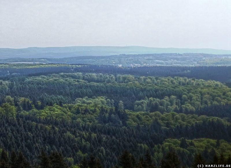 Blick vom Carlshaus-Turm auf Stiege