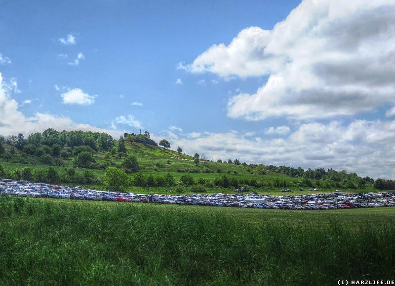 Der Großparkplatz unterhalb des Großen Gegensteins
