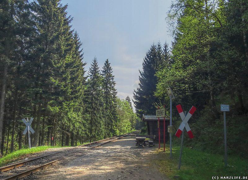 Die Bahnstation Sophienhof