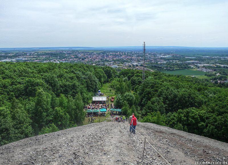 Aussicht von der Hohen Linde auf Sangerhausen