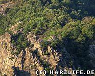 Aussicht von der La Viereshöhe zur Rosstrappe