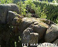 Auf der Scharfensteinklippe