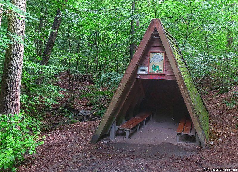 Die Schutzhütte am Dammbach