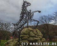 Sleipnir-Statue im Kurpark
