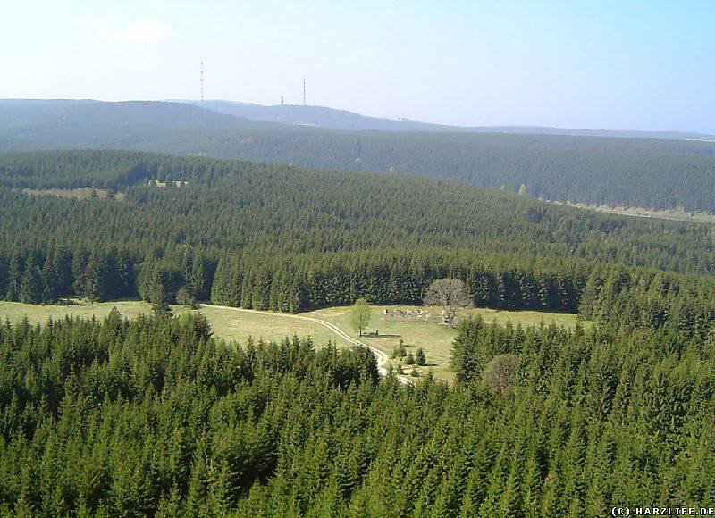 Blick vom Scharfenstein in Richtung Torfhaus