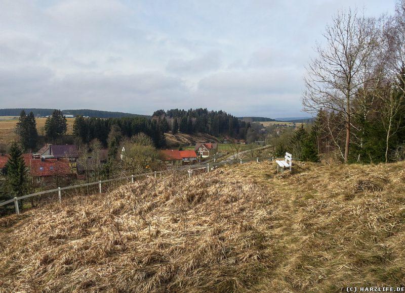 Blick von der Ackertklippe auf Königshütte