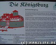 alte Infotafel an der Burgruine
