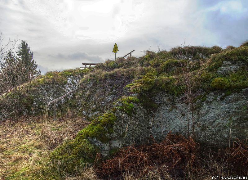 Burgruine Susenburg - Blick von Norden zum Gipfel des Burgberges