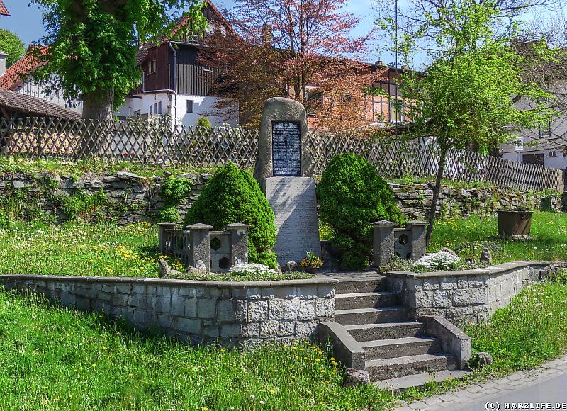 Die Weltkriegs-Gedenkstätte in Neuwerk