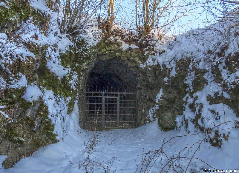 Das Südostportal des Eisenbahntunnels der Neuwerker Industriebahn