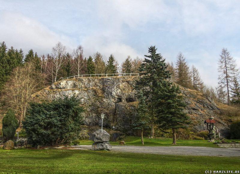 Blick zur Ackertklippe in Königshütte