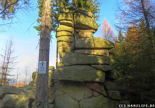 Das Naturdenkmal Gebohrter Stein