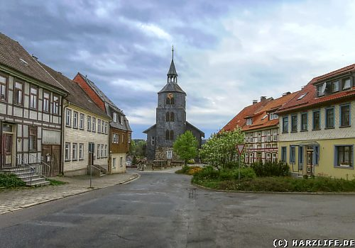 Stadtansicht mit Kirche