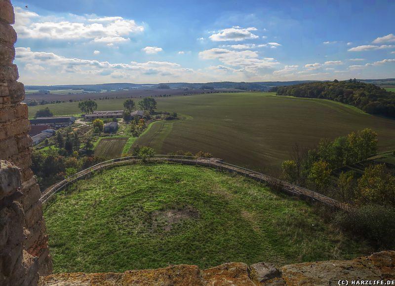 Burgruine Arnstein - Blick vom Palas nach Süden