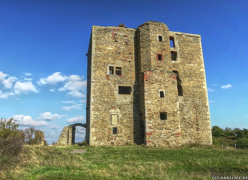 Auf dem Gelände der Burgruine Arnstein