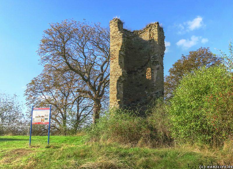 Burgruine Arnstein - Reste eines Treppenturmes