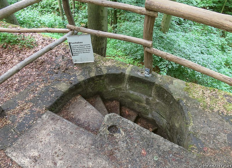 Der Eingang zum Fuchsbau