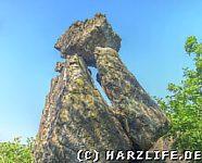 Ein fragiles Felsgebilde