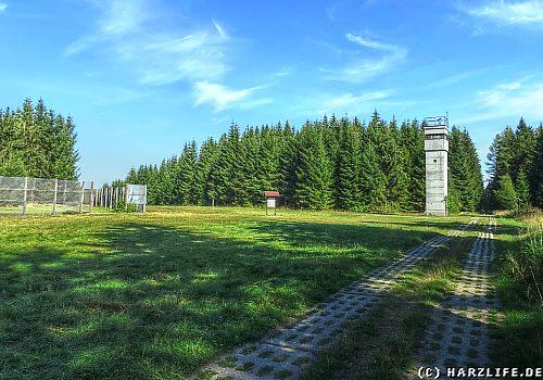 Wachtturm an der ehemaligen innerdeutschen Grenze