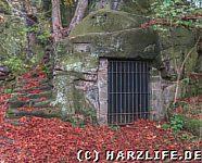 Vergitterter Kellerraum