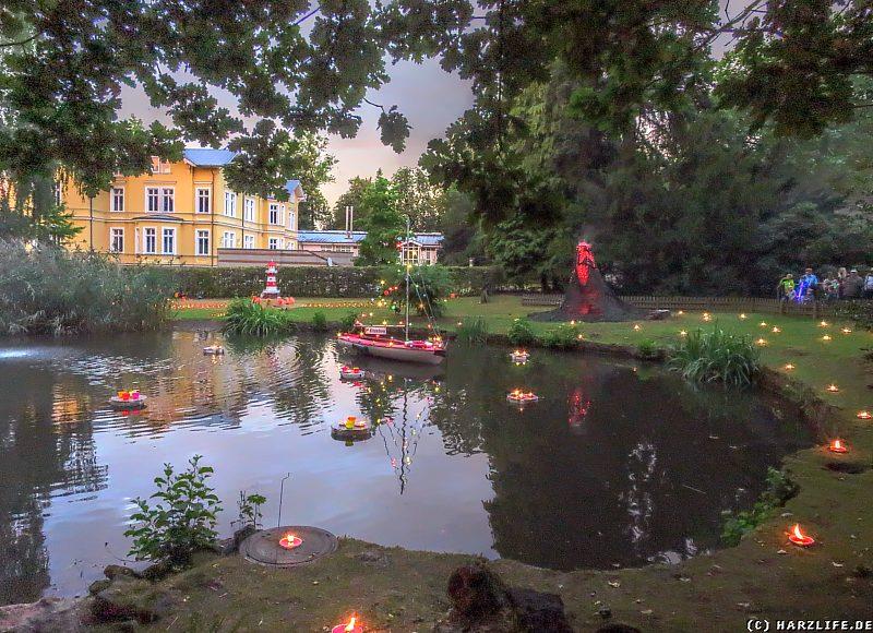 Abwechslungsreiche Lichtpräsentationen im Stadtpark