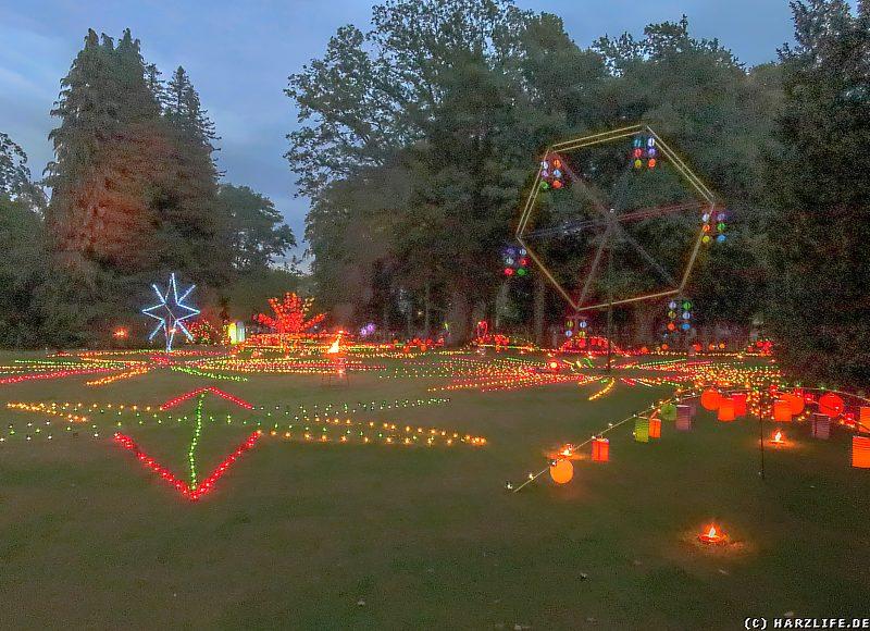 Wiese im Stadtpark zum Lichterfest