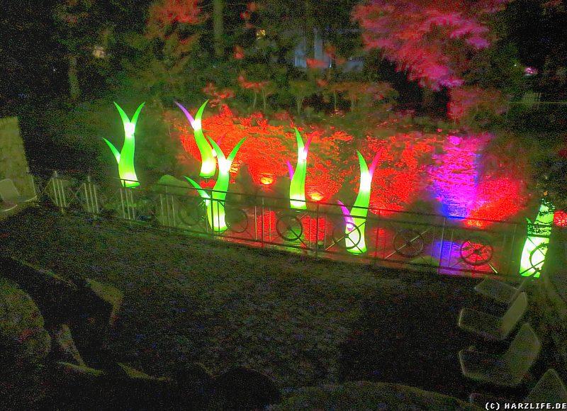 Lichtinstallation an der Radau