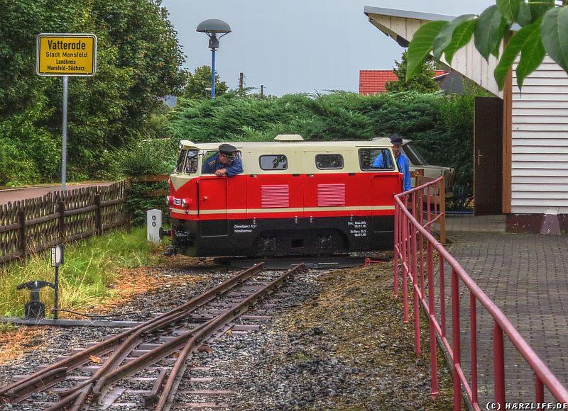 E-Lok EL9-002 auf der Drehscheibe des Bahnhofs Wippergrund