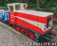 Lokomotive mit Emblem der Pionierorganisation