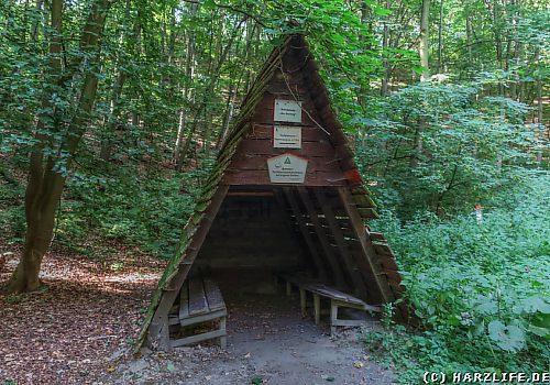 Schutzhütte im Sautrog