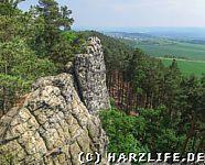 Steile Felsklippen mit herrlicher Aussicht